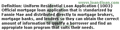 mortgage application 1003