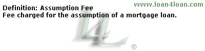 assumption fee