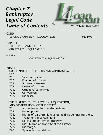 chapter 7 legal code
