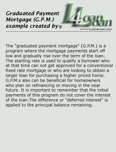 graduated payment mortgage