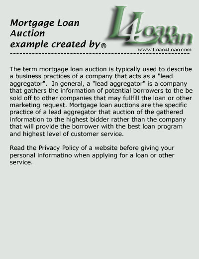 mortgage loan auction