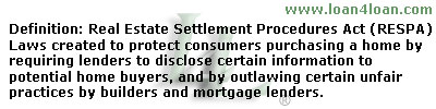real estate settle procedures act RESPA