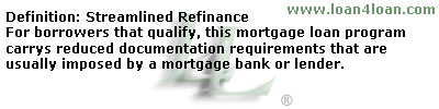 streamlined mortgage loan